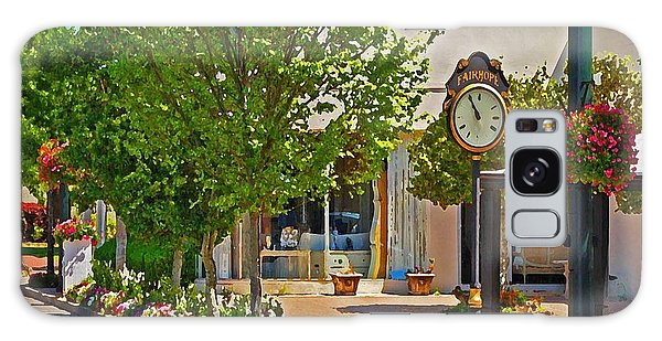 Fairhope Ave With Clock Looking North Up Section Street Galaxy Case