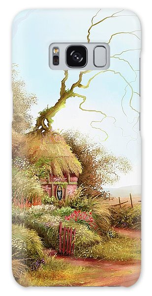 Fairy Chase Cottage Galaxy Case