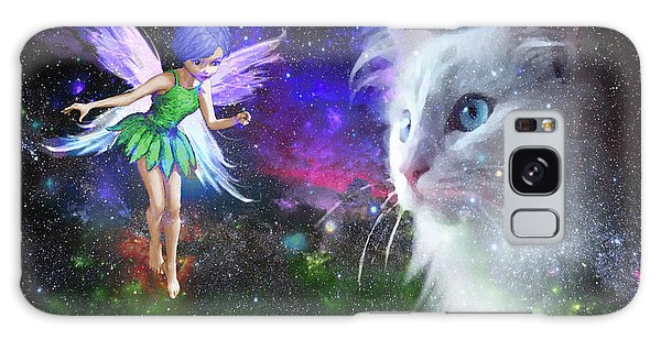 Fairy Encounters Cat  Galaxy Case