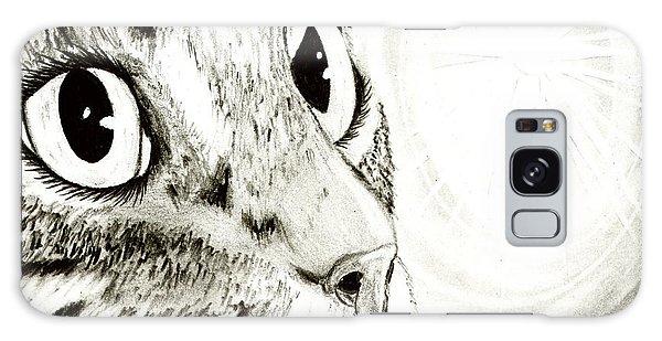 Fairy Light Tabby Cat Drawing Galaxy Case