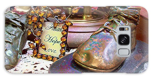 Galaxy Case featuring the photograph Faith Hope Love 2 by Kate Word