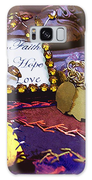 Galaxy Case featuring the photograph Faith Hope Love 4 by Kate Word