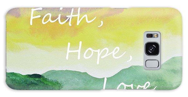 Faith Hope Love Galaxy Case