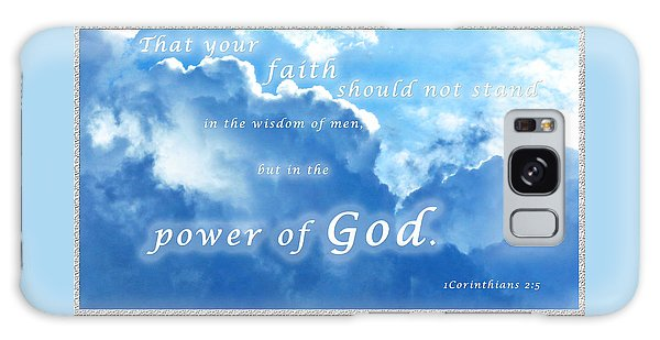 Faith In God's Power Galaxy Case