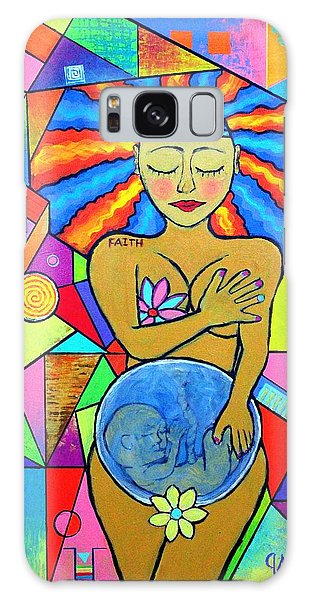 Faith, She Carries The World On Her Hips Galaxy Case by Jeremy Aiyadurai