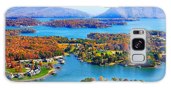 Fall Aerial Smith Mountain Lake Galaxy Case by The American Shutterbug Society