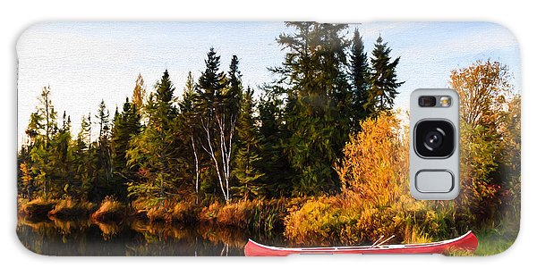 Fall At The Lake Galaxy Case