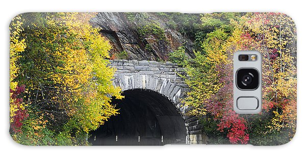 Fall Blue Ridge Parkway @ Rough Ridge Tunnel  Galaxy Case