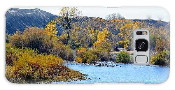 Galaxy Case featuring the photograph Fall Color On The Yuba  by AJ Schibig