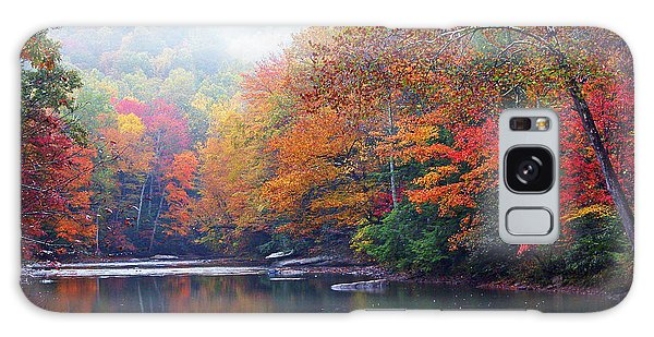 Fall Color Williams River Mirror Image Galaxy Case