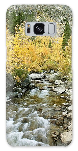 Fall Colors And Rushing Stream - Eastern Sierra California Galaxy Case by Ram Vasudev