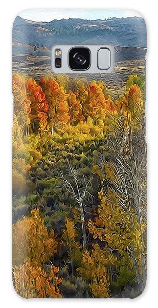 Fall Colors At Aspen Canyon Galaxy Case