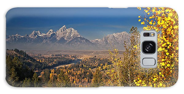 Fall Colors At The Snake River Overlook Galaxy Case