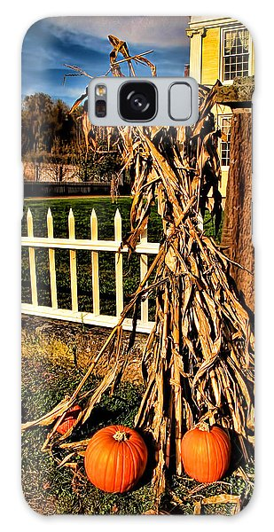 Fall Fence At Hale Farm Galaxy Case