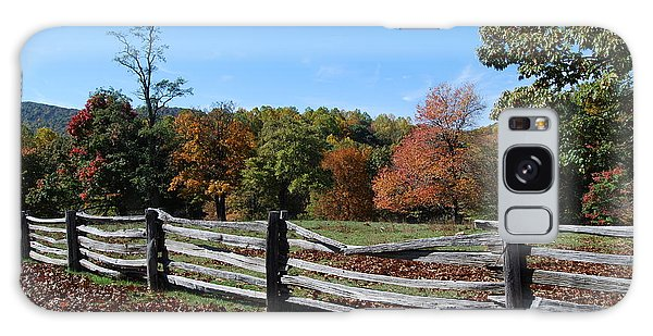 Fall Fence Galaxy Case by Eric Liller