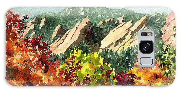 Fall Flatirons Galaxy Case by Anne Gifford