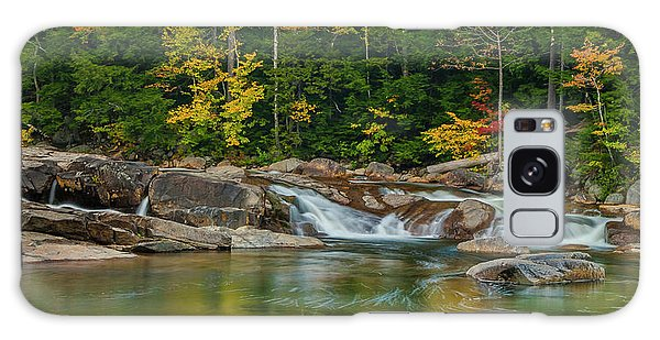 Fall Foliage In Autumn Along Swift River In New Hampshire Galaxy Case by Ranjay Mitra
