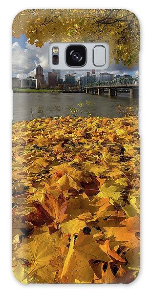 Fall Foliage In Portland Oregon City Galaxy Case