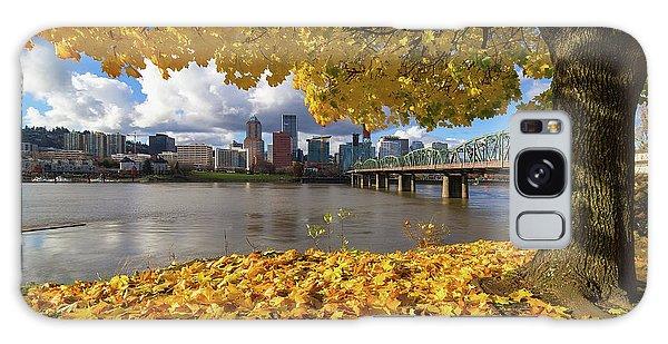 Fall Foliage With Portland Oregon City Galaxy Case