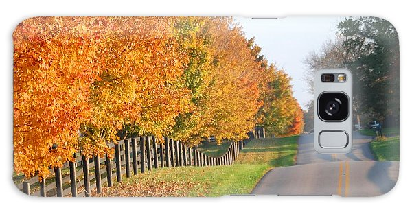 Fall In Horse Farm Country Galaxy Case