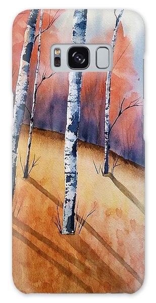 Fall In The Birches Galaxy Case