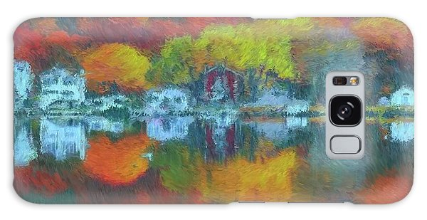 Galaxy Case featuring the painting Fall Lake by Harry Warrick