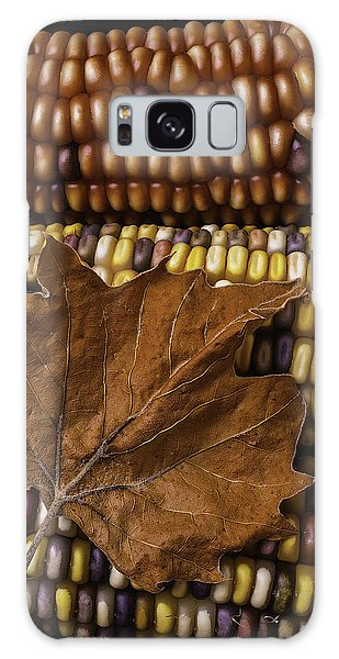 Indian Corn Galaxy Case - Fall Leaf And Indian Corn by Garry Gay