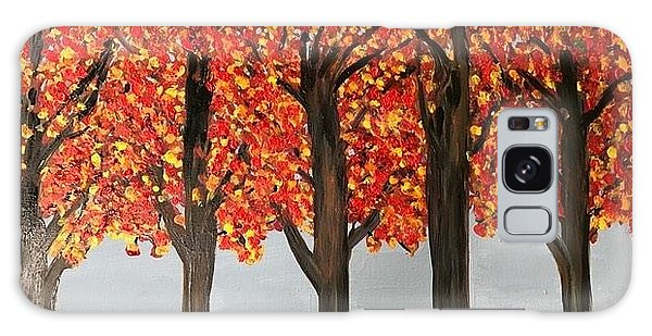 Fall Leaves Galaxy Case