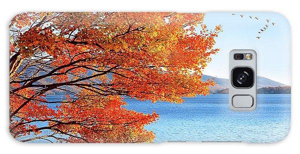 Fall Maple Tree Graces Smith Mountain Lake, Va Galaxy Case