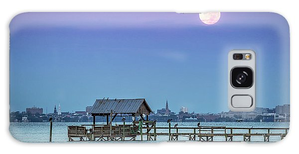 Fall Moon And King Tide - Charleston Sc Galaxy Case
