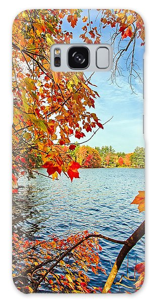 Fall On Lake Opechee Galaxy Case