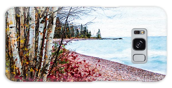 Fall On Lake Superior Galaxy Case