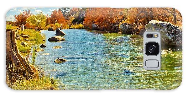 Fall On The Medina River Galaxy Case