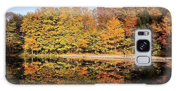 Fall Ontario Forest Reflecting In Pond  Galaxy Case