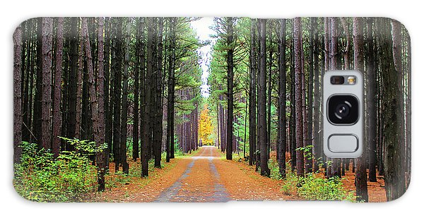 Fall Pines Road Galaxy Case