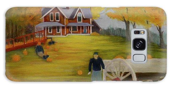 Fall Pumpkin Harvest Galaxy Case