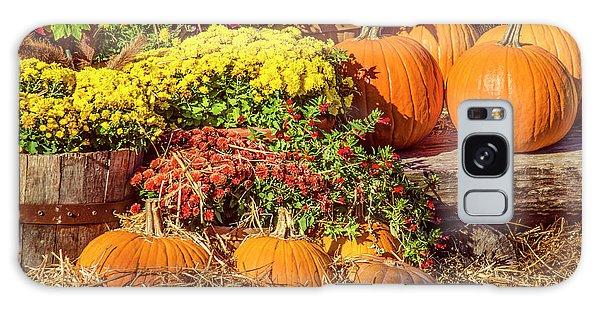 Fall Pumpkins Galaxy Case by Carolyn Marshall