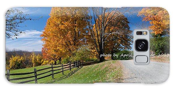 Fall Road  Galaxy Case