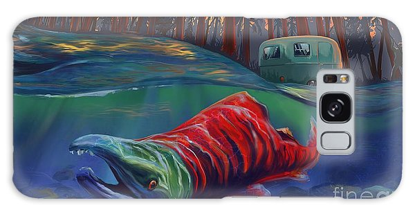 Salmon Galaxy S8 Case - Fall Salmon Fishing by Sassan Filsoof