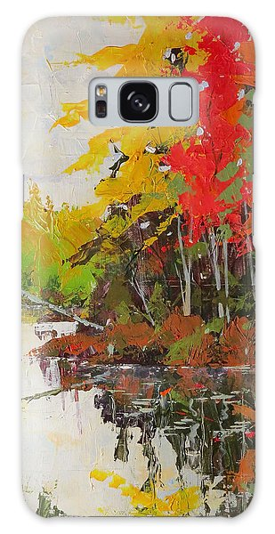 Fall Scene Galaxy Case by David Gilmore