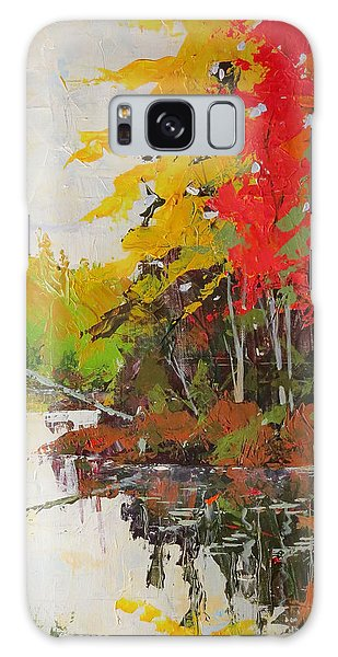 Galaxy Case featuring the painting Fall Scene by David Gilmore
