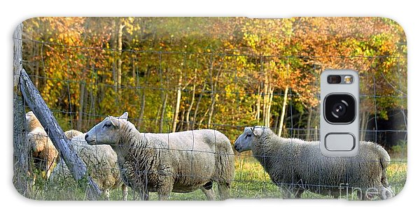 Fall Sheep Galaxy Case by Christopher Mace
