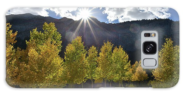 Fall Sun Setting Over Mt. Charleston Galaxy Case
