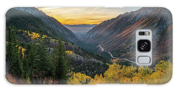 Fall Sunset In Little Cottonwood Canyon Galaxy Case