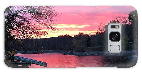 Fall Sunset On The Lake Galaxy Case
