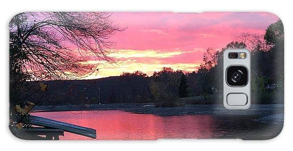 Fall Sunset On The Lake Galaxy Case by Jason Nicholas