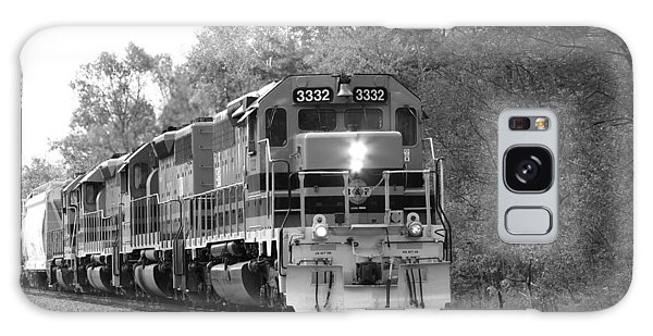 Fall Train In Black And White Galaxy Case