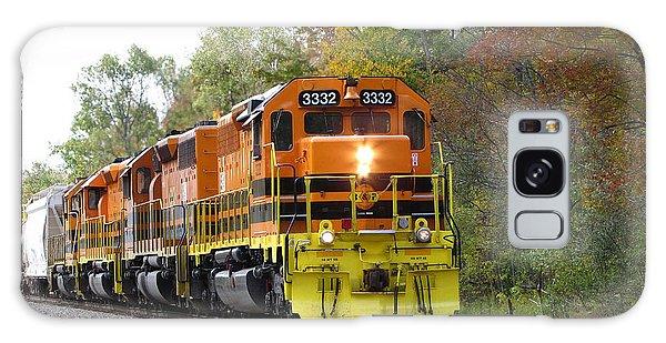 Fall Train In Color Galaxy Case