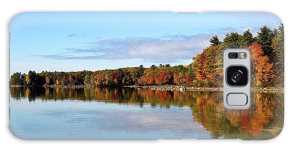 Fall Tree Reflections Lake Sabago Maine Galaxy Case