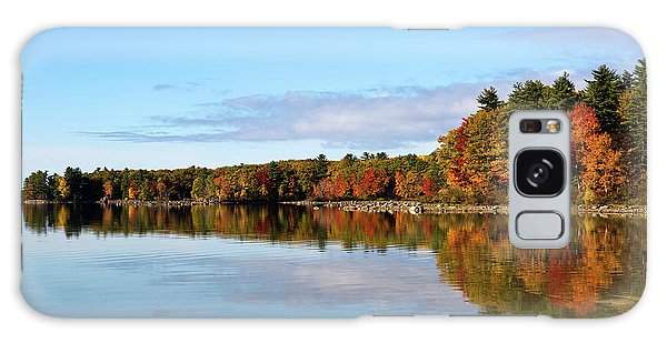 Fall Tree Reflections Lake Sabago Maine Galaxy Case